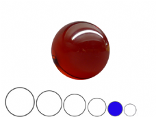 Jac Products Lava Red Translucent 70mm Acrylic Contact Ball